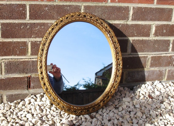 Oval Mirror Vintage Mirror Hanging Mirror Vintage Home Decor