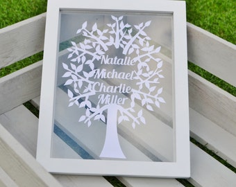 Papercut Family Tree template design to cut yourself