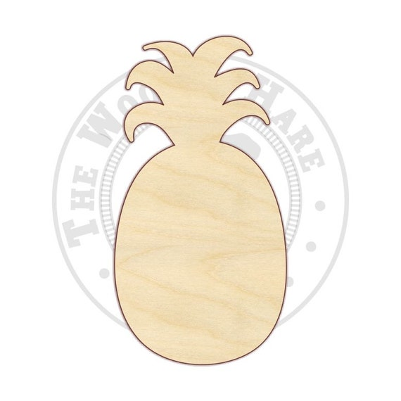 18 24 Pineapple Wood Cutout 170226 Unfinished By Thewoodenhare