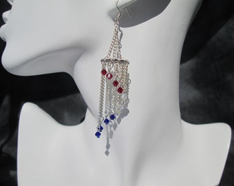 Patriotic Chandelier Earrings