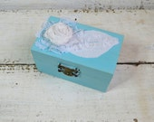 Wedding Ring Box, Engagement Ring Box, Holder Pillow Bearer Box,Shabby chic Wedding Ring Box