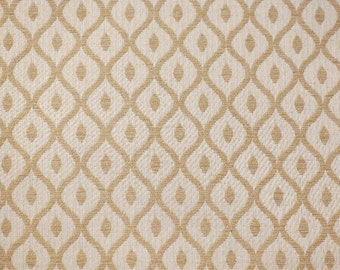 Woburn Collection. Gold Trellis SR17080 Upholstery / Curtain Fabric by the metre.