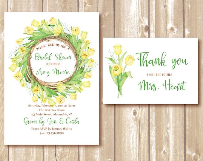 Bridal shower invitation. Bridal Shower Invitation, Bridal Shower Invite, Bridal Shower Printable. DIY Bridal Shower. Floral Bridal