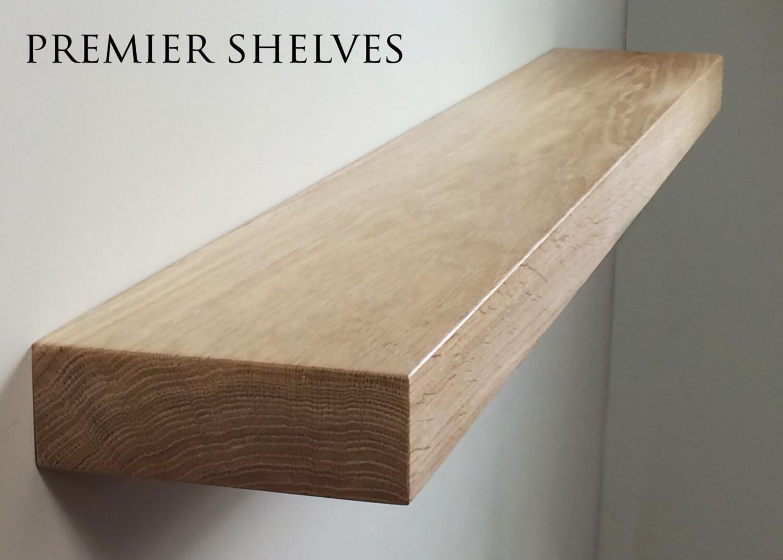solid oak floating shelves beam mantel 7 x 2 5. Black Bedroom Furniture Sets. Home Design Ideas