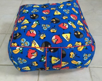 Square Angry Birds Childrens/Kids/Toddlers Floor Pouf
