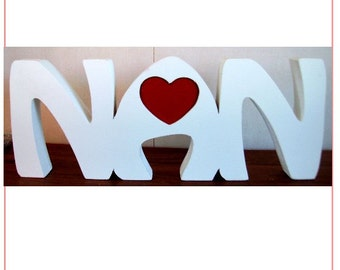 NAN free standing wooden name plaque/ birthday gift