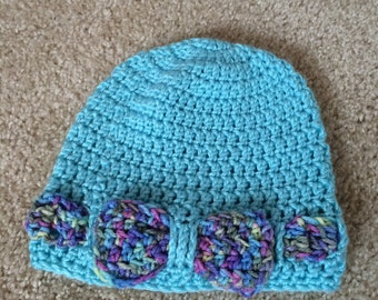 Crocheted Bow or Wave Hat