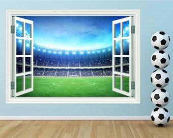 Football Stadium Window Kids Huge Wall Art Sticker Decal Mural WAP-W102H1
