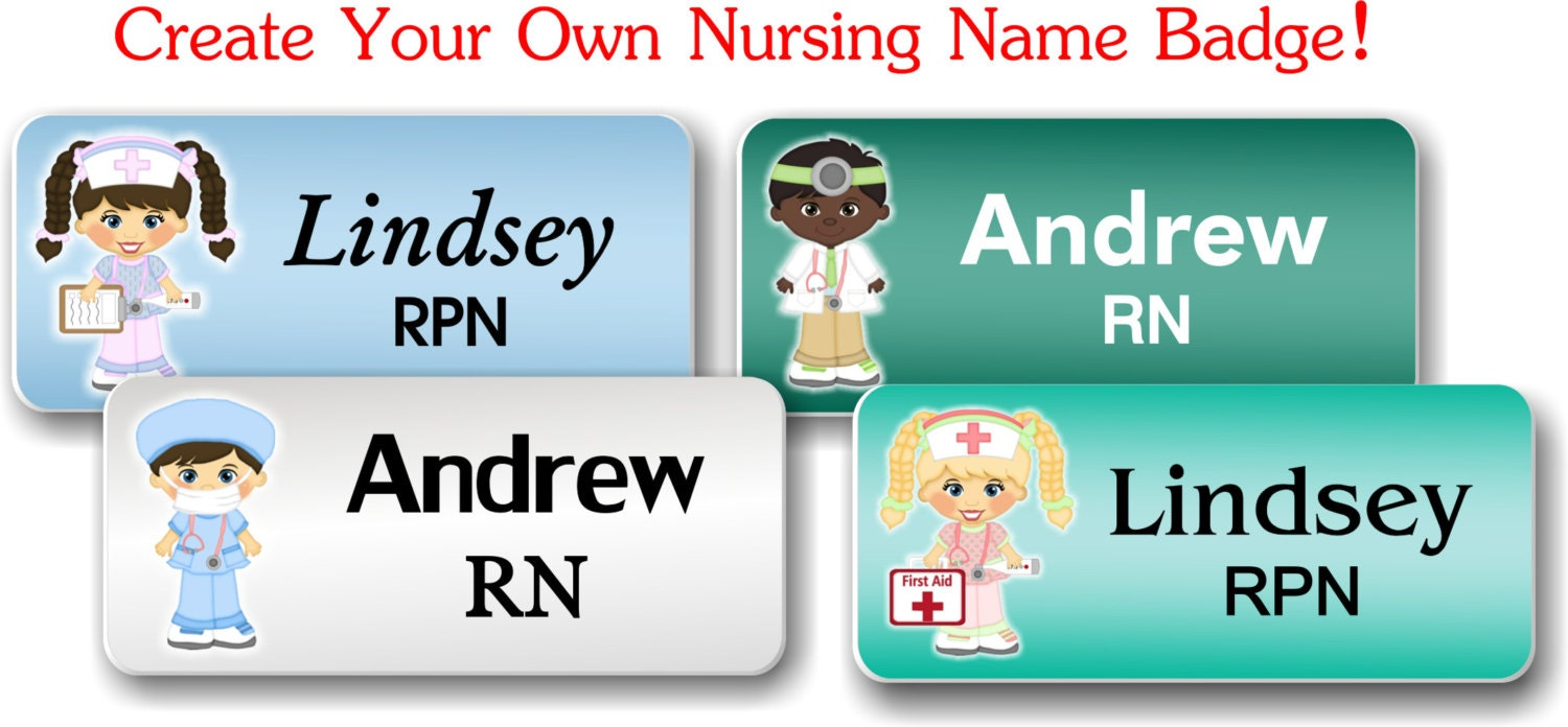 Name Badge: Name Badges With Magnetic Fastener Nursing Name Badge/Tag