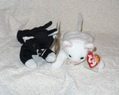 Baby Gift Room Decor - White Cat with Blue Eyes and Pink Ears Never Played With Makes a Great Gift or Display Item