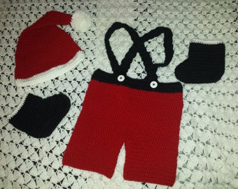 Crochet Baby Santa Outfit