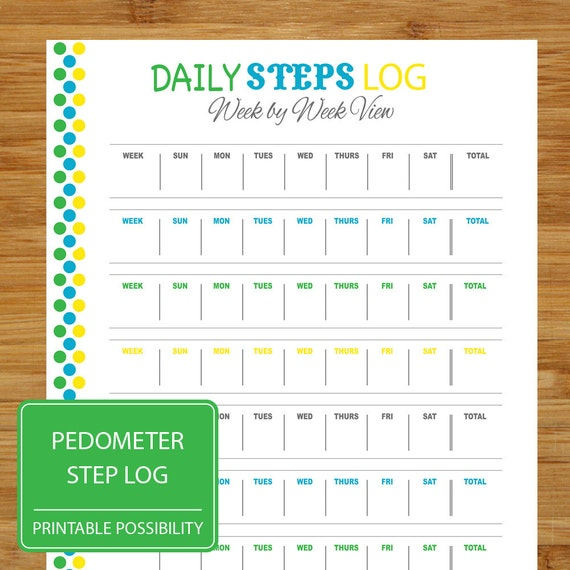 ... Daily Step Record - Pedometer Tracker - Health Exercise Fitness