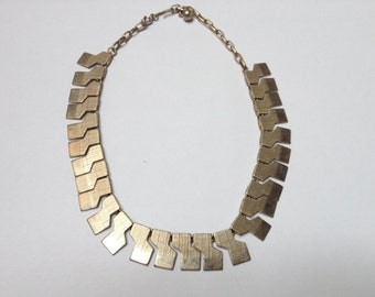 Modernist Geometric Link Necklace