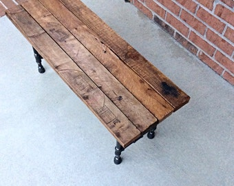 Two Are Better Than One Reclaimed Wood Bench