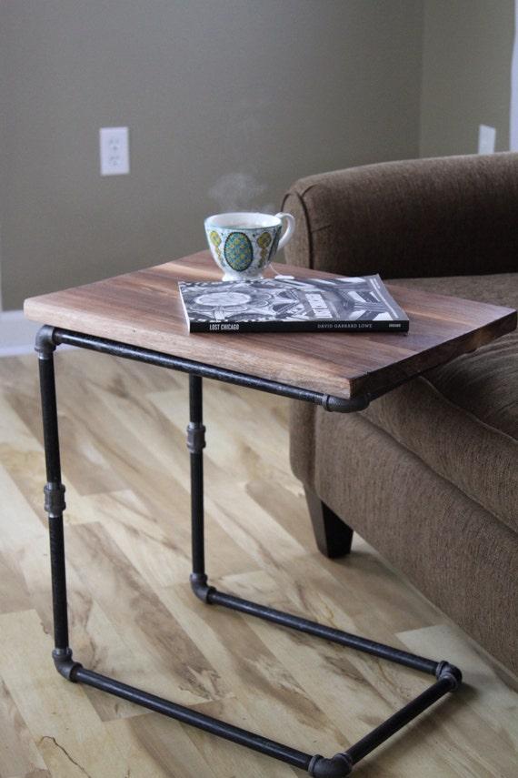 Walnut You Join Me Reclaimed Wood Side Table Laptop Desk