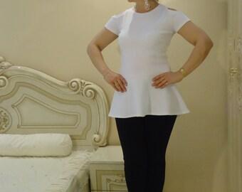 Peplum blouse/  Oversize T-Shirt blouse tunic TOP Asymmetrical tunic extravagant top / All sizes available Us Uk Eu