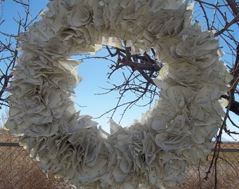 Hymnbook Music Sheet Wreath