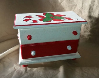 Decorative Candy Cane Chest