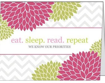 """BOOK INSPIRED CARDS 5.5"""" X 4"""" greeting cards with envelope"""