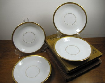 """Vintage Noritake """"The Chaumont"""" Small Saucers - Set of Four (4)"""