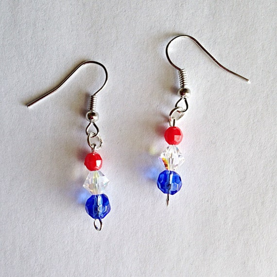 4th of july earrings patriotic dangle earrings 4th of july earrings memorial day 5424