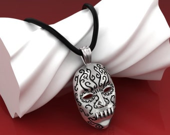 Bellatrix Lestrange Pendant Necklace Death Eater Harry Potter Movie Deathly Hallows .925 Sterling Silver