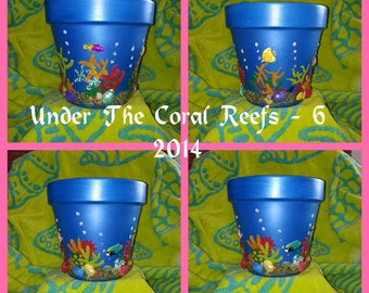 Under The Coral Reefs 6.  3D Terracotta Pot Art