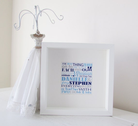 Wedding Gift Framed Art : Wedding Gift Personalized Framed Print Personalised Word Art Picture ...