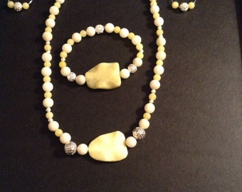 Necklace Set 3 Pc New Jade