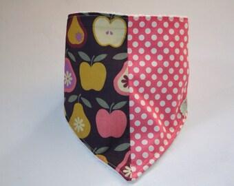 Apples & pear dribble bib