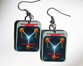Flux  Capacitor Earrings