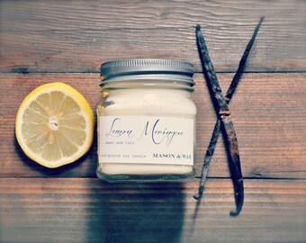 Lemon Meringue Mason Jar Soy Candle
