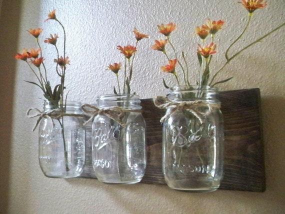 Mason Jar Wall Decor Farmhouse Decor Country By LisaMarieDS