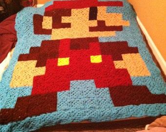 Super Mario Brothers Inspired Mario Blanket