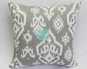 Pillow Cover - Premier Prints - RAJI - Ash Grey & White Slub - Home Decor Sofa Throw Pillow-Cover with Zipper Enclosure - All Sizes