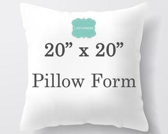 Pillow Insert - 20 x 20 inch Pillow Form - Decorative Pillow Cover Filler - Fiberfill Stuffing - Square Pillow Cover Insert Throw Pillows