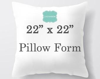 Pillow Insert - 22 x 22 inch Pillow Form - Decorative Pillow Cover Filler - Fiberfill Stuffing - Square Pillow Cover Insert Throw Pillows