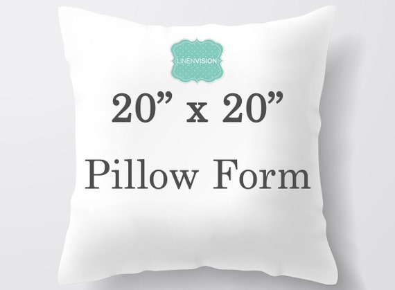 Throw Pillow Inserts 20 X 20 : Pillow Insert 20 x 20 inch Pillow Form Decorative Pillow