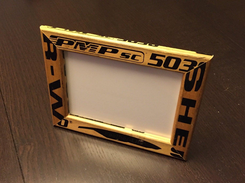 5 x 7 hockey sticks picture frame. Black Bedroom Furniture Sets. Home Design Ideas