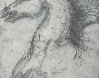 Horse Etching