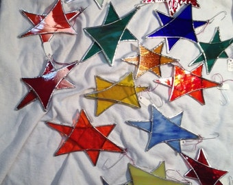 Stained Glass Christmas Star Ornament