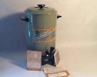 West Bend 12-30 Cup Coffee Maker, Party Percolator, Electric, Metal Plastic, MCM Vintage 1960's