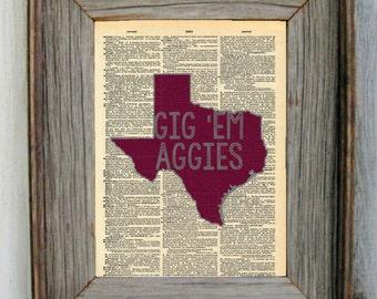 Texas A&M Dictionary Art Print