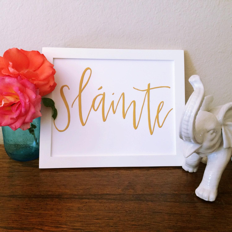 Slainte irish decor instant download home decor for Irish decorations for home