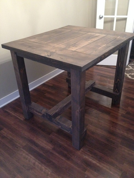 Counter Height Farm Table : Bar Height Farm Table by RusticVeteran on Etsy