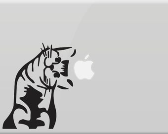 "Cat Vinyl Decal Sticker Skin for Apple MacBook Pro Macbkook Air Mac 13"" 15"" 17""  Air or iPad + iPad Mini"