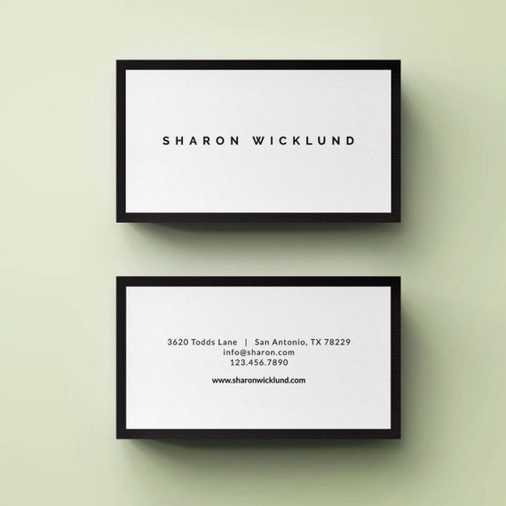 Premade business card template small business card by for Small business card