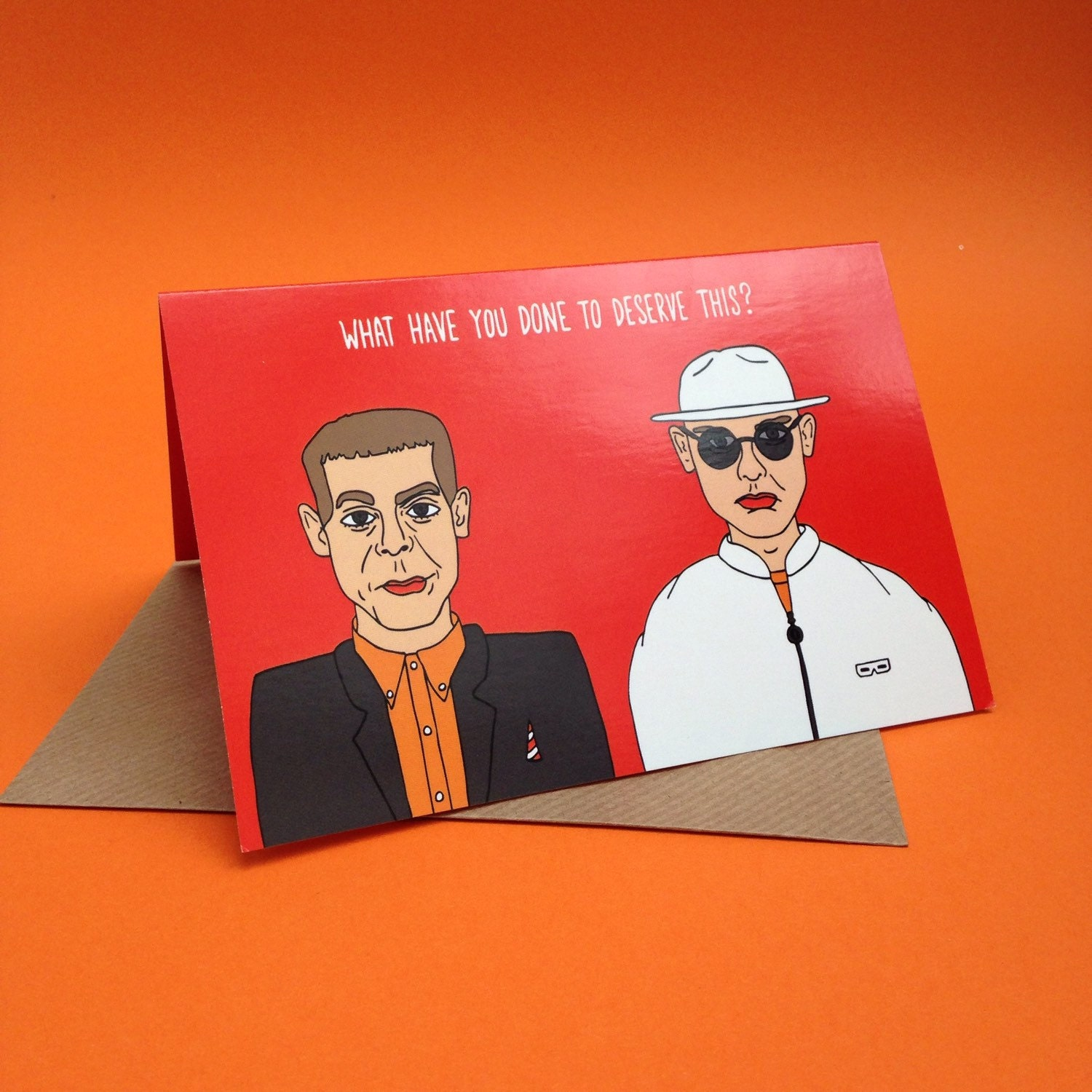 Pet Shop Boys Greetings Card From Full Colour Original – Birthday Card Shop