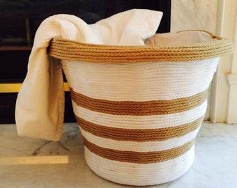 Hand-crafted Rope Basket