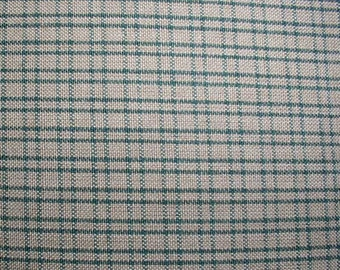 Reversed Green Homespun Fabric Double Windowpane Quilting Sewing Primitive Country Home Decor Rag Quilts Wreaths Garlands Doll Making